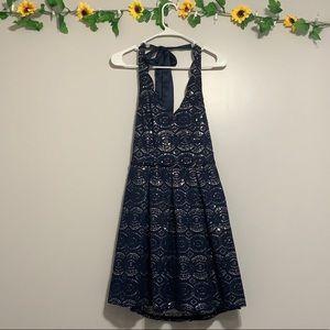 Blue dress/ halter dress